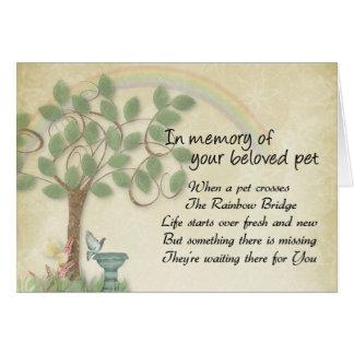 Acaricie esperar en la pérdida del mascota del pue tarjeta de felicitación