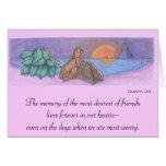 Acaricie la tarjeta de condolencia/la tarjeta de l