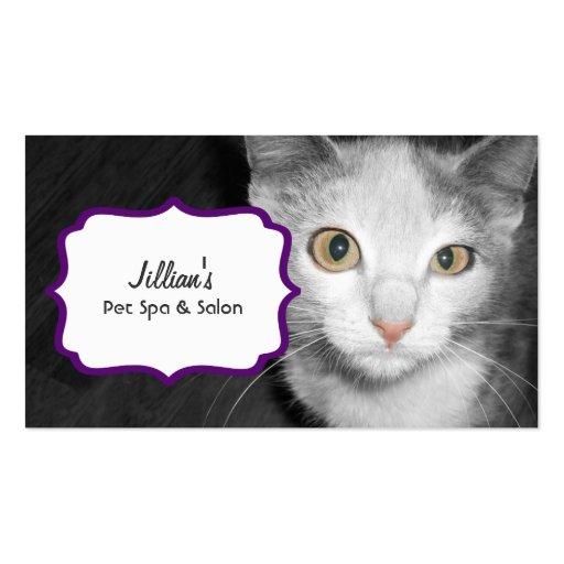 Acaricie la tarjeta de visita del gato del Groomer
