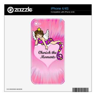 Acaricie los momentos iPhone 4 skin