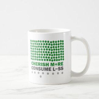 Acaricie más consumen menos taza básica blanca