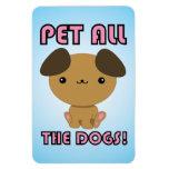 ¡Acaricie todos los perros! Perrito de Kawaii Iman Rectangular