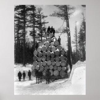Acarreando abre una sesión Michigan, 1890s Poster