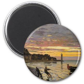Acarreando un barco en tierra, Honfleur de Claude Imán Redondo 5 Cm