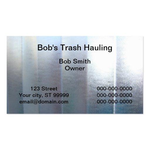 Acarreo de la basura tarjetas de visita