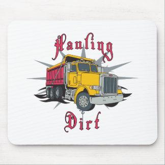 Acarreo del camión volquete de la suciedad tapete de ratón