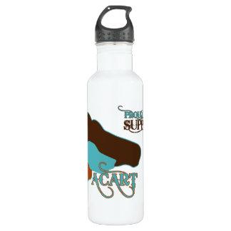 ACART - Logo | Turquoise Brown | Custom Name Stainless Steel Water Bottle