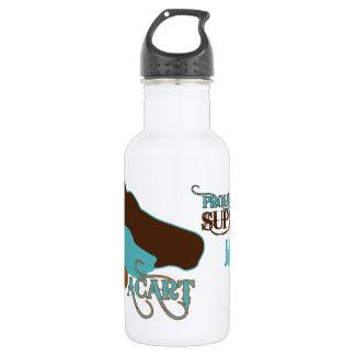 ACART - Logo | Turquoise Brown | Custom Name Water Bottle