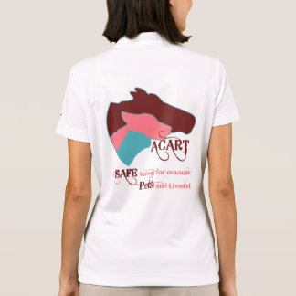 ACART - Safe Haven   Dusty Rose and Chocolate Logo Polo Shirt