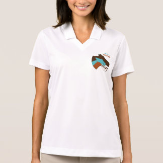 ACART - Safe Haven   Turquoise and Brown Logo Polo Shirt