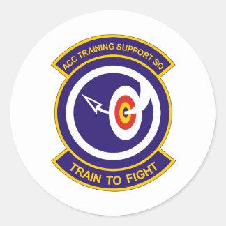 ACC Training Support SQ Det 14 Round Sticker