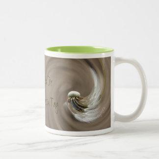 """accelerated day"" by mysteryella Two-Tone coffee mug"