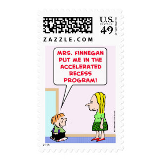 accelerated recess program postage stamp
