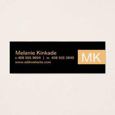 Professional Business Accent (apricot) mini business card