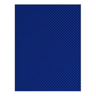 Accent Blue Carbon Fiber Like Print Background Postcard