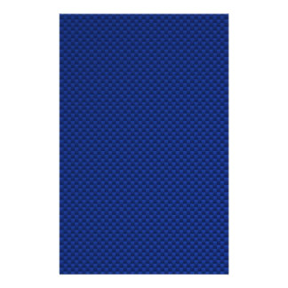 Accent Blue Carbon Fiber Like Print Background Stationery