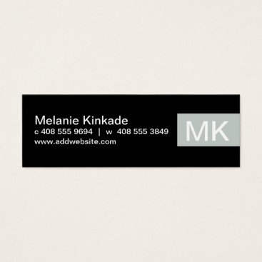 Professional Business Accent (gray) mini business card