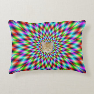 Accent Pillow  Neon Star Exploding