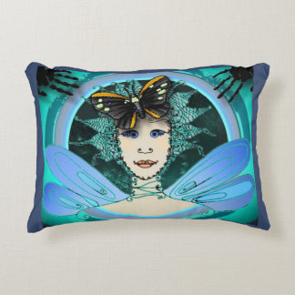 Accent Pillow with Art Déco Style Fairy Image
