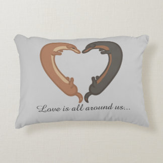 Accent pillow with Dachshunds Love is all around