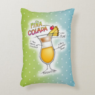 ACCENT PILLOWS - PINA COLADA RECIPE COCKTAIL ART