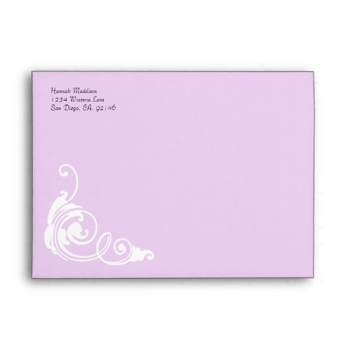 Accent Pink Damask Print Custom A7 Envelopes
