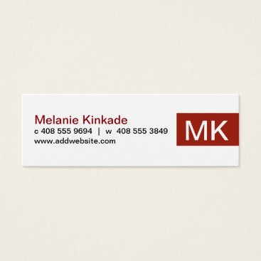 Professional Business Accent (Red) Mini Business Card