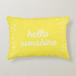 Accent Yellow Hello Sunshine Cushion Pillow