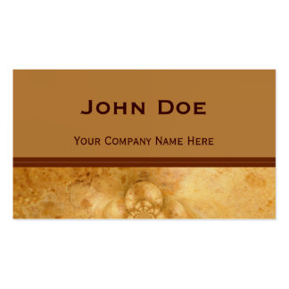 Accented Golden Marble Business Card