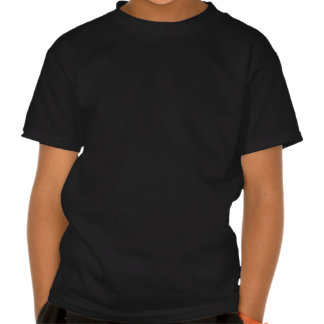 Accents on black tee shirt