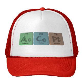Accept-Ac-Ce-Pt-Actinium-Cerium-Platinum Trucker Hat