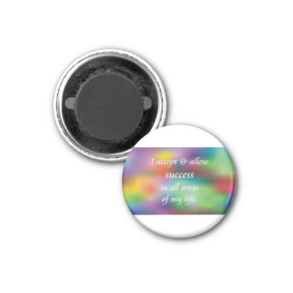accept and allow success 1 inch round magnet