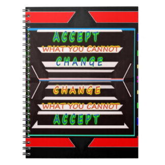 Accept Change - Be a Change Agent Note Book