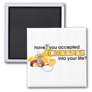 Accept Cheeses 2 Inch Square Magnet