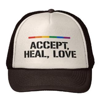 ACCEPT, HEAL, LOVE TRUCKER HAT