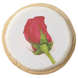 Accept the Rose Round Shortbread Cookie