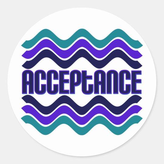 Acceptance Classic Round Sticker