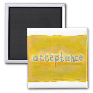 Acceptance - fresh simple colorful painting art 2 inch square magnet