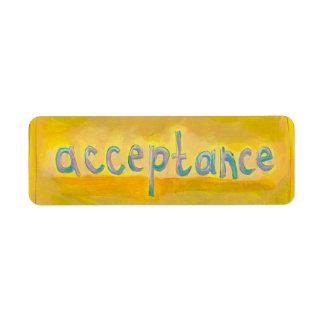 Acceptance - fresh simple colorful painting art custom return address labels