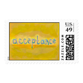 Acceptance - fresh simple colorful painting art postage
