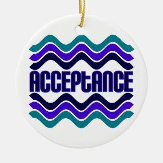 Acceptance Double-Sided Ceramic Round Christmas Ornament