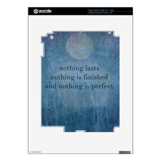 Acceptance  quote wabi sabi iPad 2 skins