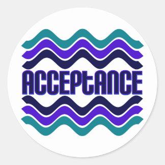 Acceptance Round Stickers