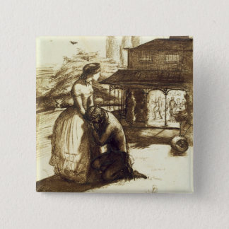 Accepted, 1853 (pen & brown ink on paper) pinback button