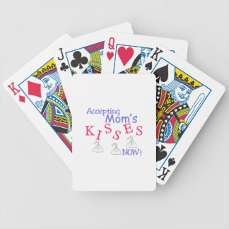 Accepting Mom's Kisses Now! Bicycle Playing Cards