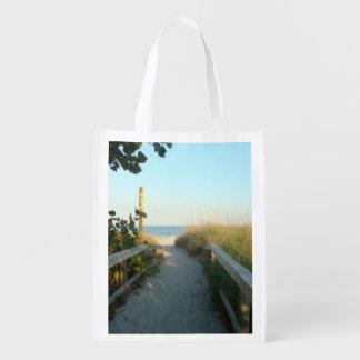 Acceso de la playa bolsas reutilizables