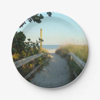 Acceso de la playa plato de papel de 7 pulgadas