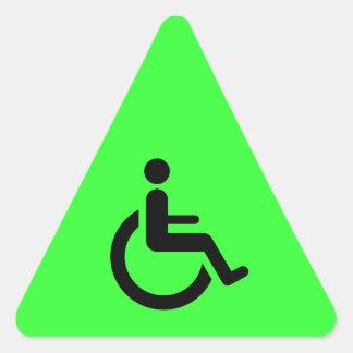 Acceso de la silla de ruedas - símbolo de la silla pegatina triangular