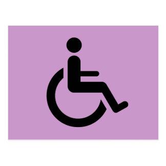 Acceso de la silla de ruedas - símbolo de la silla postal