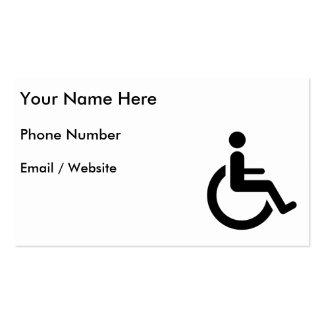 Acceso de la silla de ruedas - símbolo de la silla tarjetas de visita
